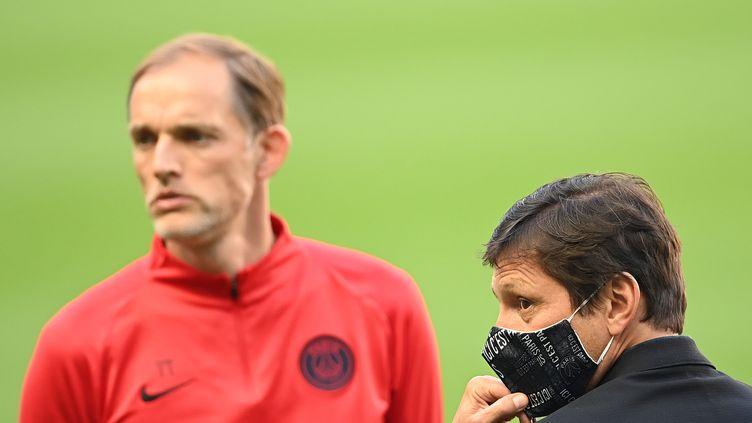Alors que Tuchel demande des renforts, Leonardo doit multiplier les pistes infructueuses. (FRANCK FIFE / AFP)