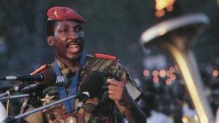 Thomas Sankara, un tribun qui a marqué l'histoire du Burkina Faso. (Muigwithania/Wikimedia, CC BY-NC)