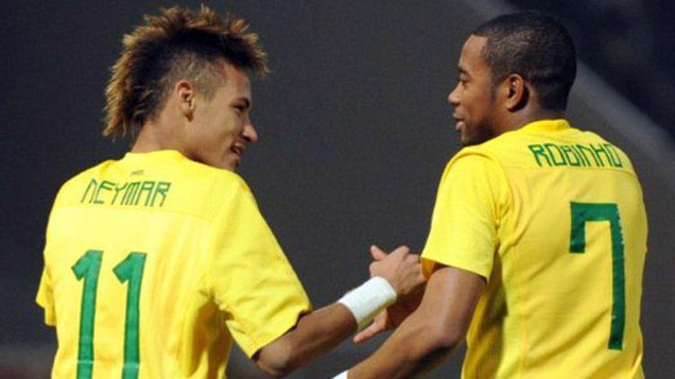 Neymar et Robinho, deux des joyaux du Brésil