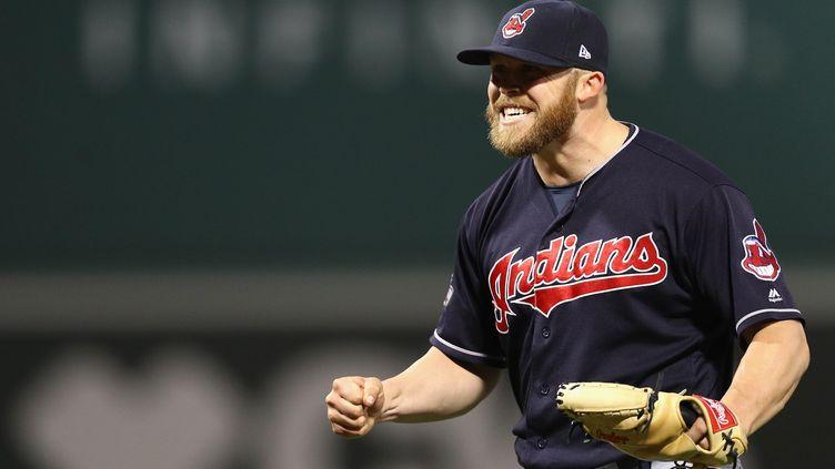 La joie du joueur de Cleveland, Cody Allen (MADDIE MEYER / GETTY IMAGES NORTH AMERICA)