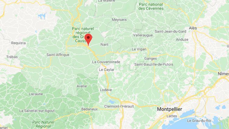 La Cavalerie dans l'Aveyron. (CAPTURE D'ECRAN GOOGLE MAPS)
