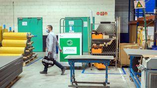 Une PME de transformation du caoutchouc à Saint-Ouen-l'Aumone (Val-d'Oise). Photo d'illustration. (MAXPPP)