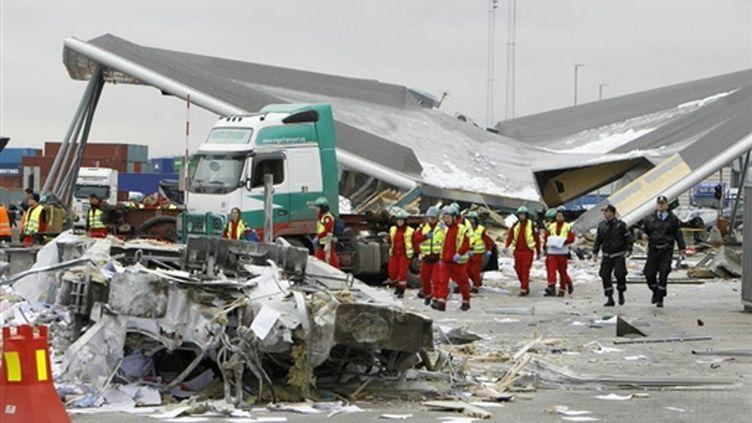 Accident de train de marchandises, mercredi 24 mars 2010, à Oslo (AFP - Heiko Jung)