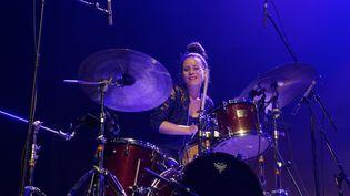 La batteuse Anne Paceo sur scène au festival Jazz à la Villette, à Paris (7 septembre 2018) (EDMOND SADAKA EDMOND/SIPA / SIPA)