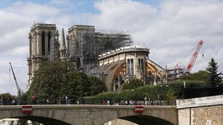La cathédrale Notre-Dame de Paris entre échafaudages et grues, le 16 août 2019 (CHINE NOUVELLE/ SIPA / XINHUA)