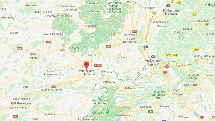 Montbéliard, dans le Doubs. (GOOGLE MAPS)