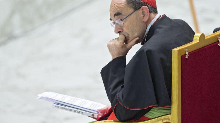 Le cardinal Philippe Barbarin, archevêque de Lyon, assiste à une messe, le 6 juillet 2016, au Vatican. (MAXPPP)