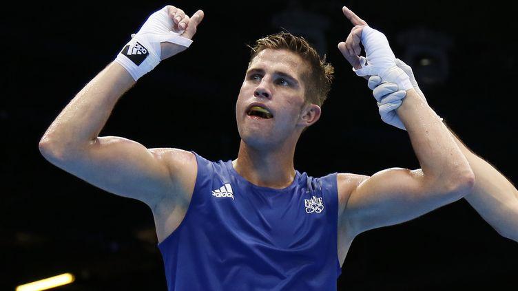 Le boxeur Alexis Vastine joue son ticket pour les demi-finale, le 7 août 2012 aux Jeux olympiques de Londres. (JACK GUEZ / AFP)