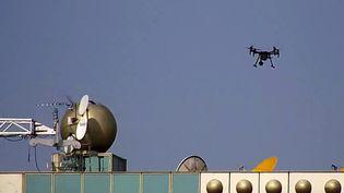 L'Espagne commence, le 1er août 2019, à utiliser des drones pour punir les infractions au Code de la route. (HANDOUT / DIRECCION GENERAL DE TRAFICO / AFP)