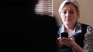La présidente du Front national, Marine Le Pen, le 12 mars 2012, à Toulouse. (MAXPPP)