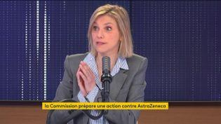 Agnès Pannier-Runacher, le 26 avril sur franceinfo. (FRANCEINFO / RADIOFRANCE)