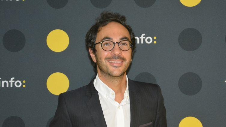 """Arnaud de Courcelles, directeur de la chaîne """"L'Equipe"""". (RADIO FRANCE / JEAN-CHRISTOPHE BOURDILLAT)"""