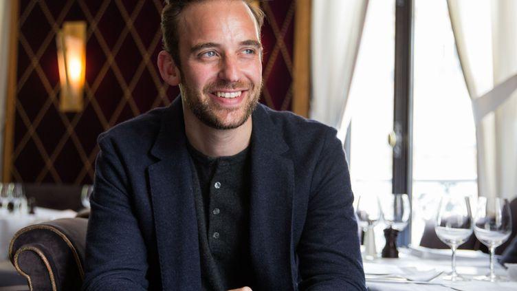 L'écrivain suisse Joël Dicker le 2 mai 2018 à Paris, au restaurant L'Avenue (PASCAL VILA / SIPA)