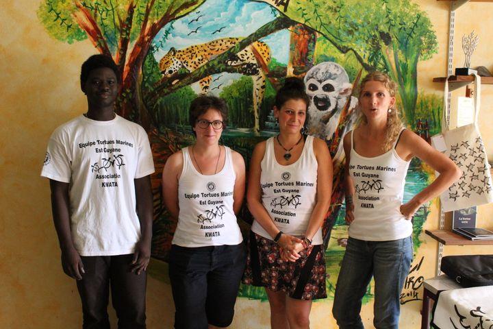 Magali Portal (deuxième à gauche) fait partie de l'association Kwata en Guyane. (Association Kwata)