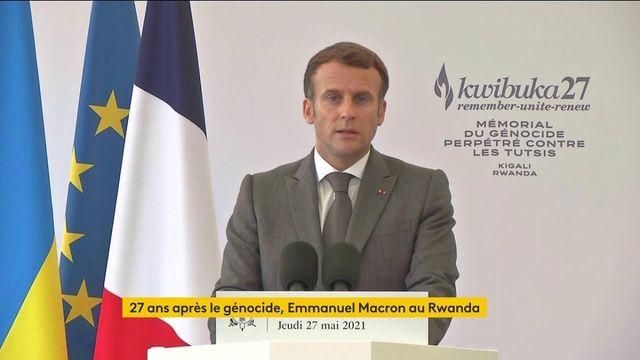 """VIDEO. La France """"n'a pas été complice"""" du génocide rwandais, déclare Emmanuel Macron"""