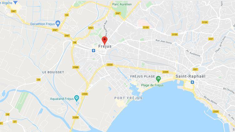 Fréjus (Var). (CAPTURE ECRAN GOOGLE MAPS)