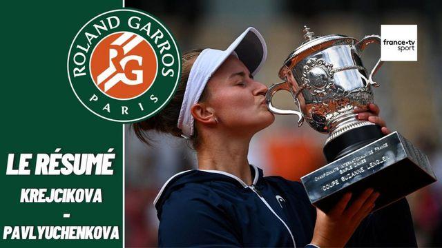 Les meilleurs moments de la finale dames Barbora Krejcikova - Anastasia Pavlyuchenkova
