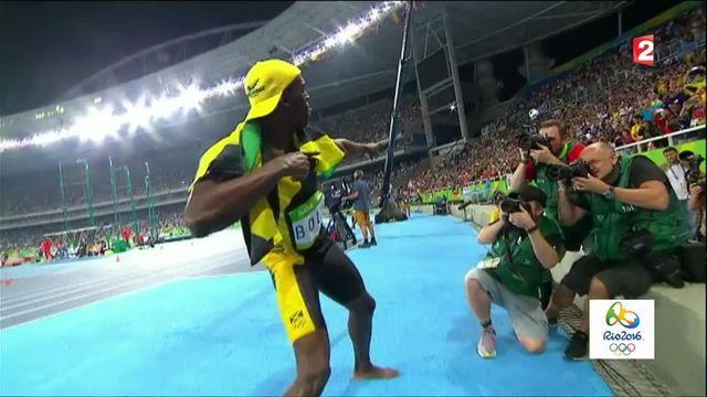 JO 2016 : Usain Bolt, triple champion olympique du 100 m