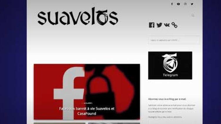 La page web de Suavelos (FRANCEINFO)