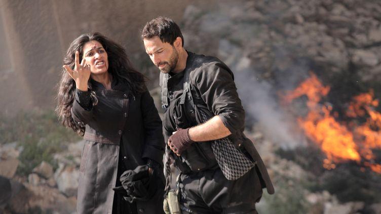 """Des acteurs de la série """"Black Crows"""", en tournage au Liban, le 30 mars 2016. En 2020, le coronavirus met à mal la production des séries prévues pour le Ramadan. (AFP / MBC GROUP)"""