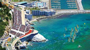 La marina de Marseille sera dédiée à la voile. (PARIS2024)