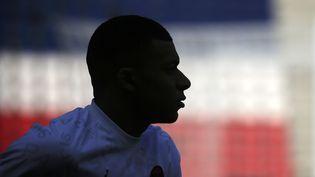 Kylian Mbappé au Parc des Princes, avant le coup d'envoi de la 33e journée de Ligue 1 contre Saint-Etienne. (MAXPPP)