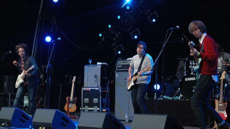 Parquet Courts (de gauche à droite Andrew, Shawn, Austin et Max à la batterie) à Rock en Seine 2013  (Clément Martel / Culturebox)