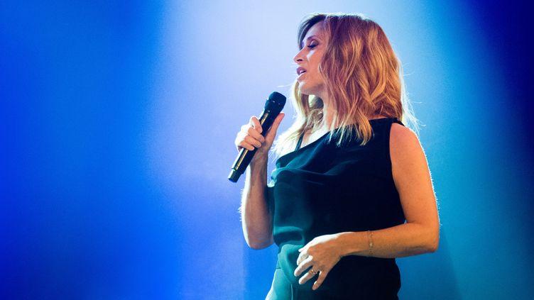 Lara Fabian, sur scène à Montréal, le 16 mars 2018. (BENOIT DOPPAGNE / BELGA MAG)