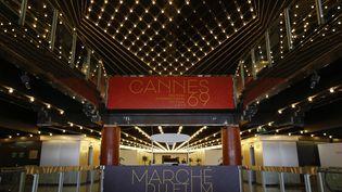L'intérieur du palais des Festival de Cannes, le 10 mai 2016. (DAVE BEDROSIAN/GEISLER-FOTOPRESS / GEISLER-FOTOPRESS)