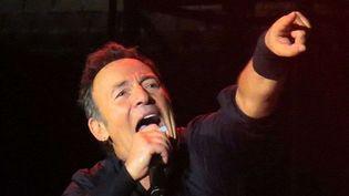 Bruce Springsteen sur scène à Milan le 17 mai 2012.  (Geoffrey Robinson/Rex/REX/SIPA)