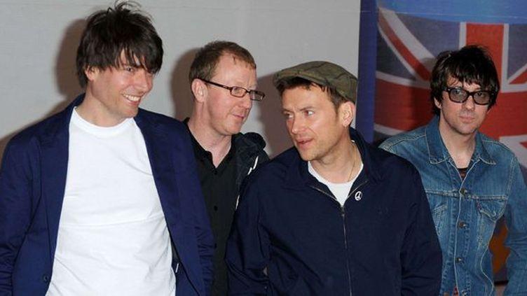 Blur en février 2012, lors des Brit Awards.  (Rex Features/REX/SIPA)