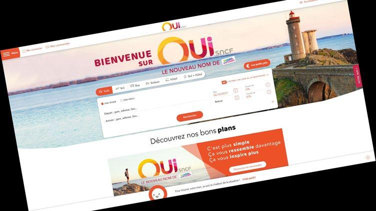Capture d'écran du nouveau site de la SNCF OUI.sncf, qui remplace voyages.sncf.fr. (OUI.SNCF)
