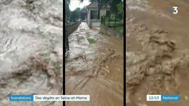 Seine-et-Marne : les intempéries ont provoqué des inondations dans la ville de Thieux