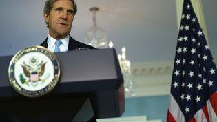 Le secrétaire d'Etat américain, John Kerry, lors d'une conférence de presse à Washington (Etats-Unis), le 30 août 2013. (ALEX WONG / GETTY IMAGES NORTH AMERICA / AFP)