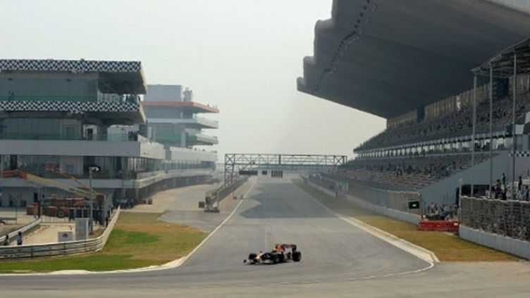 Les tribunes du GP d'Inde (MANAN VATSYAYANA / AFP)