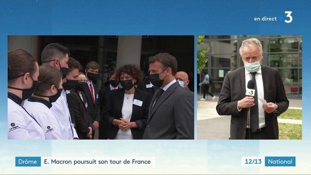Drôme : Emmanuel Macron à la rencontre des restaurateurs