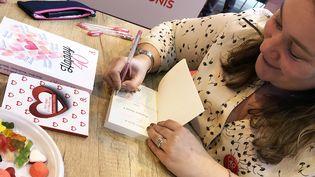 Emily Blaine en dédicace au salon Livre Paris, 2018