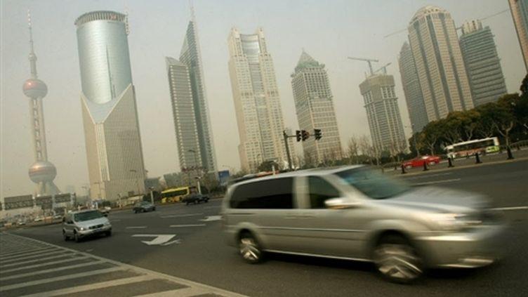 Le centre financier de Shanghai (25 janvier 2007) (© AFP / Mark Ralston)