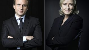 Emmanuel Macron et Marine Le Pen, candidats au second tour de la présidentielle. (JOEL SAGET / AFP)