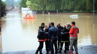 Inondations qui ont touché Bruay-la-Buissière (Pas-de-Calais), le 31 mai 2016. (MAXPPP)