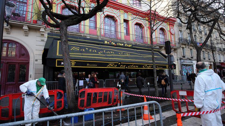 La salle du Bataclan, le 22 décembre 2015 à Paris. (FRANCOIS GUILLOT / AFP)