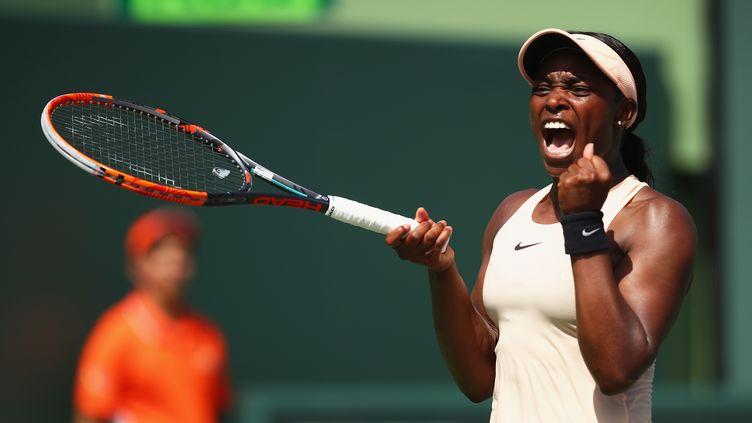 L'Américaine Sloane Stephens s'est hissé en finale du tournoi de Miami. (CLIVE BRUNSKILL / GETTY IMAGES NORTH AMERICA)