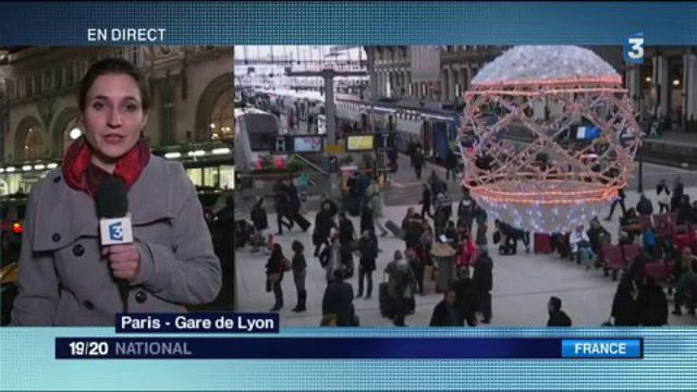 Gare de Lyon : l'affluence de Noël dans les transports