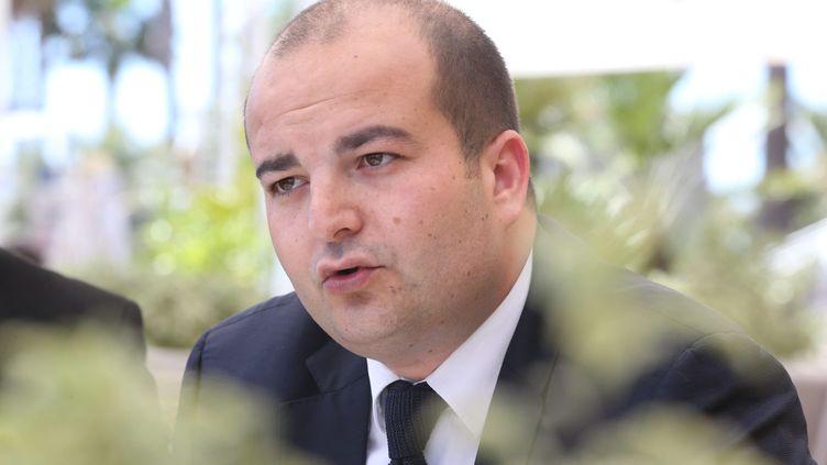 David Rachline, directeur de la communication du FN, le 19 mai 2017, à Saint-Raphaël (Var). (MAXPPP)