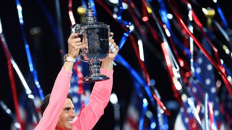 Rafael Nadal a conforté sa place de numéro 1 mondial grâce à sa victoire à l'US Open (JEWEL SAMAD / AFP)