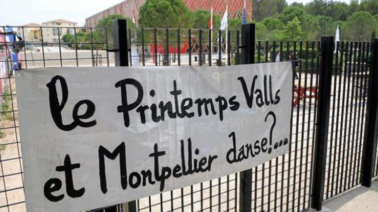 (Les intermittents ont reconduit samedi  la grève entamée mardi à l'ouverture du 28e Printemps des Comédiens à  Montpellier © Maxppp/ Jean-Michel Mart)