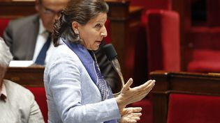 La ministre de la Santé, Agnès Buzyn, le 29 mai 2019, à l'Assemblée nationale, à Paris. (FRANCOIS GUILLOT / AFP)