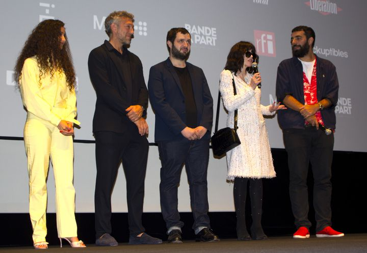 """L'équipe de """"Le monde est à toi"""" à Cannes le 12 mai 2018  (Jean-François Lixon)"""