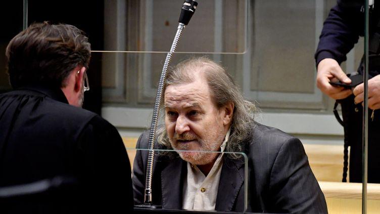 Jacques Rançon, dans le box des accusés de la cour d'assises de Perpignan, le 13 mars 2018. (MAXPPP)