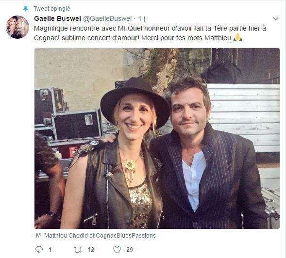 Gaelle Buswel a fait la première partie de Matthieu Chedid.  (Adrien Pittore)